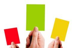 karty trzy Zdjęcia Stock