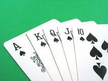 karty w pokera. Obrazy Stock