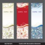 Karty z dekoracyjnymi elementami 2 Fotografia Stock