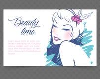 Karty z kobietą Obraz Royalty Free