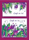 Karty z kwiatu wzorem Obrazy Royalty Free