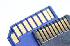 karty zamykają pamięć Fotografia Stock