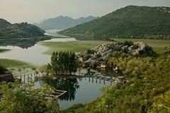 Karuc village. In the bays of Lake Skadar, Montenegro Royalty Free Stock Photos