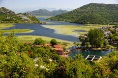 Karuc village on Lake Skadar, Montenegro Royalty Free Stock Photography