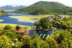 Karuc village on Lake Skadar, Montenegro Stock Images