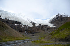The Karuola glacier in Tibet Royalty Free Stock Image