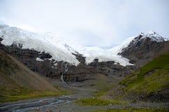 The Karuola glacier in Tibet Royalty Free Stock Image