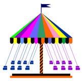 karusell vektor illustrationer
