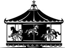 Karusell royaltyfri illustrationer