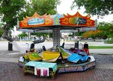 Karusell fairground children play toys. Kids fun Stock Image