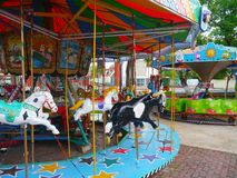 Karusell fairground children play toys Royalty Free Stock Images