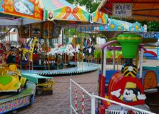 Karusell fairground children play toys Stock Images