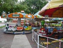 Karusell fairground children play toys. Kids fun Royalty Free Stock Images