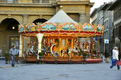 karusell florence italy Royaltyfri Fotografi