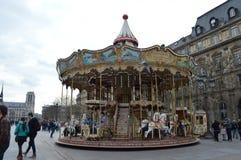 Karusell HÃ'tel de Ville, Paris Royaltyfri Foto