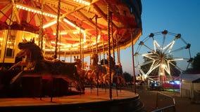 Karusell i Cambridge på gryning Arkivbild