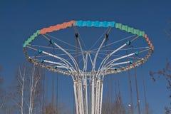 Karusell i Park arkivbild