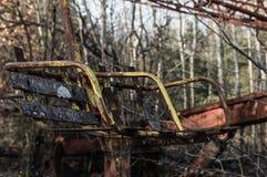 Karusell i Pripyat Royaltyfri Fotografi