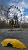Karusell i Pripyat Arkivbild