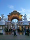 Karusell i Tivoli, Köpenhamn Royaltyfri Foto