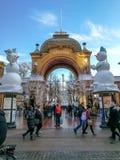 Karusell i Tivoli, Köpenhamn Arkivfoto