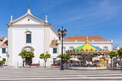 Karusell i Vila Real de Santo Antonio Arkivfoton