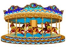Karusell med hästar stock illustrationer