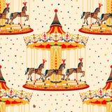 Karusell med hästar Royaltyfri Foto