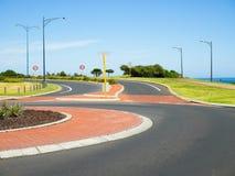 Karusell- och hastighetsbegränsningtecken Fotografering för Bildbyråer