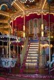 Karusell på den ganska julen Carcassonne france Fotografering för Bildbyråer
