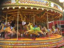 Karusell på en mässa Arkivfoto