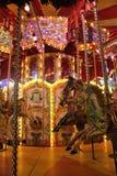 Karusell på natten Royaltyfri Fotografi