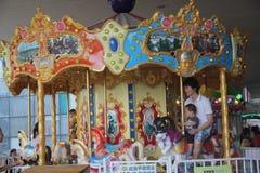 Karusellen i lekplatsen i SHENZHEN Royaltyfri Fotografi