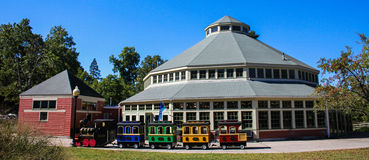 Karusellen, Roger Williams Park Fotografering för Bildbyråer