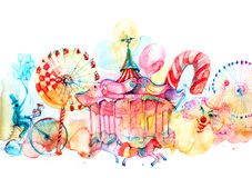 karuseller Arkivfoton