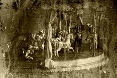 karusellfrance paris foto tagen tappning Arkivbild
