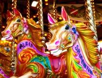 karusellhästar Royaltyfri Fotografi