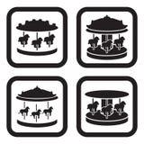 Karusellsymbol i fyra variationer Royaltyfri Foto