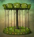 karusellträ stock illustrationer