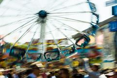 Karussell auf octoberfest lizenzfreie stockfotografie