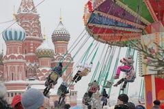 Karussell auf Rotem Platz, Moskau lizenzfreie stockfotografie
