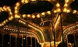 Karussell in der Nacht lizenzfreies stockbild