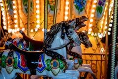 Karussell an der Spaßmesse Stockbild
