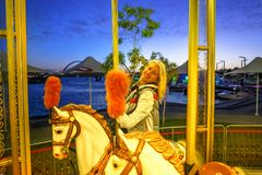 Karussell in Elizabeth Quay Stockfoto