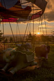 Karussell - Fliegen-Elefanten Lizenzfreies Stockbild