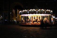 Karussell in Florenz Stockfotos