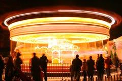 Karussell nachts Lizenzfreies Stockfoto