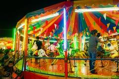 Karussell oder fröhliche gehen Runde in der thailändischen Art Lizenzfreies Stockfoto