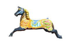 Karussell-Pferd. Lizenzfreies Stockbild