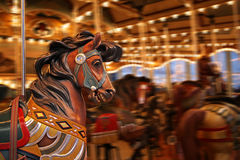 Karussell-Pferd-silho Weg Lizenzfreies Stockfoto